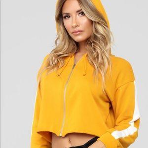 New Fashion Nova Cropped Hooded Zipper Jacket